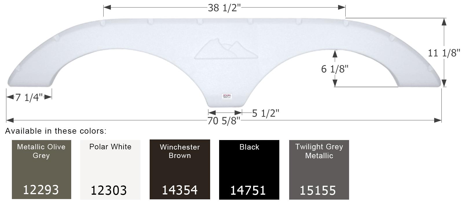 ICON Keystone Tandem Fender Skirt FS2035 Polar White